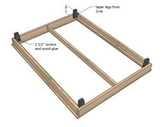 37 ideas wood bed frame diy pottery barn for 2019 Bed Frame Plans, Diy Bed Frame, Bed Plans, Bed Frames, Full Platform Bed, Wood Platform Bed, Pottery Barn, Cama King, Diy Daybed
