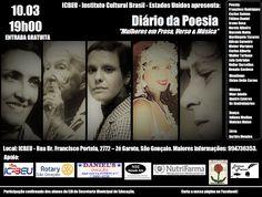 Agenda Cultural RJ: Diário da Poesia - DIA 10/03 homenageia as mulhere...