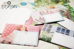 Umschlag-Schablone und Adress-Etiketten