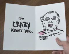 Horror-Themed Valentines Card: Hannibal