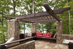 Exterior: Fabulous Mesmerizing Pergola Ideas Backyard And Plans Backyard Grape Trellis For Landscape Farmhouse Design Ideas from Decorate Our Home With Grape Trellis