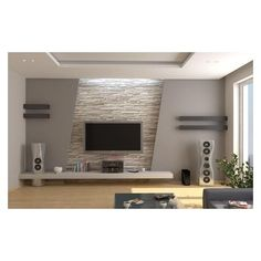 Stone wall and decoration living room tv wall decor, modern tv wall, Wall Unit Designs, Tv Wall Design, Ceiling Design, House Design, Tv Cabinet Design, Modern Tv Cabinet, Modern Tv Wall Units, Modern Cabinets, Modern Wall