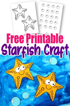 Dive under the sea to find your next sea creature ocean craft! This adorable starfish is so easy to make! Simply print the star fish template and get your arts and crafts on! He is perfect for kids of all ages, especially preschoolers and toddlers! Sea Creatures Crafts, Sea Animal Crafts, Animal Crafts For Kids, Spring Crafts For Kids, Crafts For Kids To Make, Toddler Crafts, Summer Kids, Kid Crafts, Summer Beach