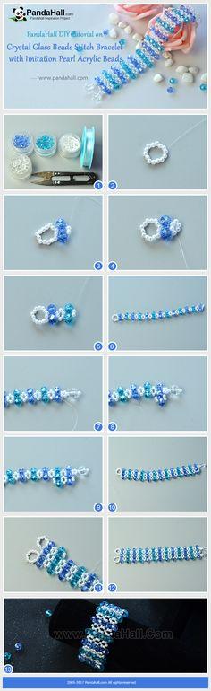 Pandahall bracelet en perles acryliques pour l'été.