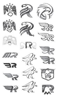 Sherwin Schwartzrock sketchbook work for Mitt Romney Logo Desing, Typography Logo, Graphic Design Typography, Branding Design, Web Design, Sketch Design, Logo Process, Design Process, Designers Gráficos