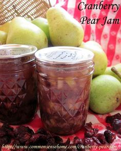 Cranberry Pear Jam - Traditional and Low Sugar Recipes  @ Common Sense Homesteading
