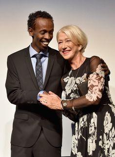 Pin for Later: 26 Stars Qui N'ont Pas Su Résister au Charme d'Helen Mirren Barkhad Abdi