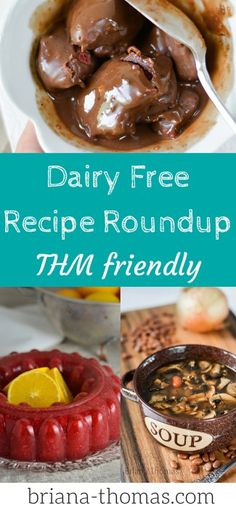 Dairy Free Recipe Roundup (over 60 recipes Here's a dairy free recipe that includes over 60 THM friendly recipes! Thm Recipes, No Dairy Recipes, Recipes Dinner, Holiday Recipes, Healthy Recipes, Lactose Free Diet Plan, Trim Healthy Mama Plan, Dairy Free Snacks, Healthy Carbs