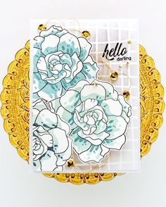 NEW Altenew Collection This stunning card is made by Nathalie DeSousa from @altenewllc Shading Techniques, Craft Stash, Engagement Cards, Altenew, Lawn Fawn, Cute Cards, Anniversary Cards, Daffodils, Colouring