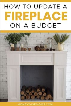 Is it time to update your fireplace? Get ideas to make your fireplace look new on a budget. Home improvement doesn't have to cost a lot! See how to DIY your fireplace on a budget. #homeimprovement #budget #savemoney #home #fireplace #moneywisemoms Retro Home Decor, Diy Home Decor, Home Improvement Projects, Home Projects, High Heat Paint, Diy Fireplace Mantel, Modern Home Interior Design, Interior Ideas, Home Decor Inspiration