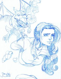 SKETCH Shadowcat n Lockheed by thejeremydale.deviantart.com on @deviantART