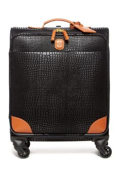 "My Safari 20"" Croc Embossed Spinner Suitcase"