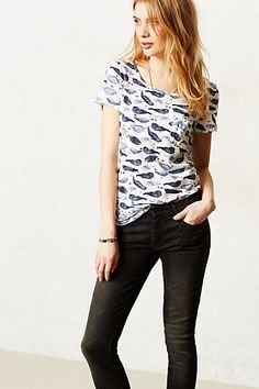 Watercolor Chatty Tee #anthropologie [love the one with owls for running errands, being out and about]