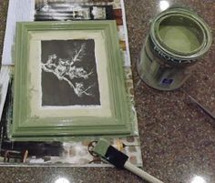 Biddle Bits: Easy update: Painting picture frames