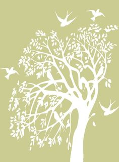Bird Silhouette #Birds #Silhouette by donmoblue. This would be a beautiful wall stencil.