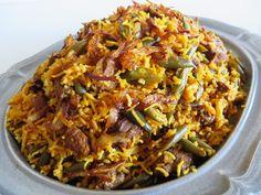 Green Bean Rice|lubia Polo لوبیا پلو | Fae's Twist & Tango - Persian Green Beans, Rice, and Beef