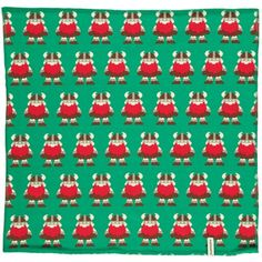 Square Scarf, green with vikings, Maxomorra