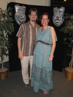 this dress is two curtain panels that i got from Cost Plus World Market. I sewed them together to make a Grecian Doric gown. I was 6 months pregnant and I was hating on the maternity clothes.