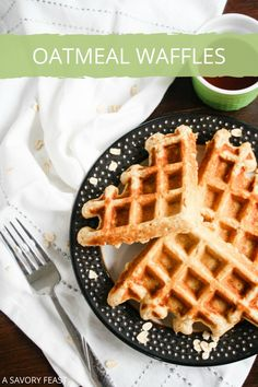 Hearty Oatmeal Waffles are a wonderful start to your weekend. This waffle batter is simple to mix up with ingredients you probably have in the house. You'll love the flavor and texture of these delicious waffles. Oatmeal Waffles, Pancakes And Waffles, Brunch Recipes, Breakfast Recipes, Breakfast Ideas, How To Make Waffles, Making Waffles, Waffle Mix, Christmas Breakfast