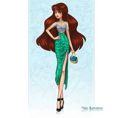 Ariel+by+MidaIllustrations.deviantart.com+on+@DeviantArt