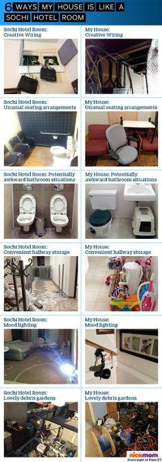 6 ways my house is like a Sochi hotel room