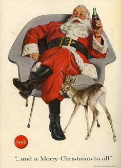 Santa Claus Coca-Cola Ad, ca. Love these old Coca Cola ads. Coca Cola Santa, Coca Cola Christmas, Coca Cola Ad, Always Coca Cola, Christmas Ad, Merry Christmas To All, Father Christmas, Vintage Christmas Cards, Christmas Pictures