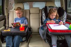 The Kids E-Z Travel Lap Tray is a sturdy, well-organized way to keep your kids entertained for hours, even on the go! Say good-bye to lost crayons and spilled drinks. Tray includes 1