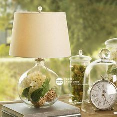 Round home lights table lamp bedroom bedside lamp modern fashion glass flower vase decor table rustic lighting Fillable Lamp, Glass Flower Vases, Table Lamps For Bedroom, Rustic Lighting, Table Flowers, Bedside Lamp, Nature Decor, Vases Decor, Light Table