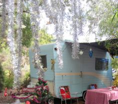 Vintage Baravan caravan Christmas