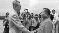 Lee Kuan Yew welcomes then-Chinese vice premier Deng Xiaoping to Singapore in November 1978.
