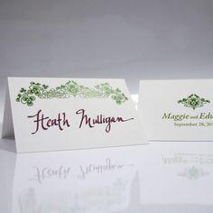 Luck Of The Irish Place Card With Fold - Bridal Everything #irishwedding #stpatricksday