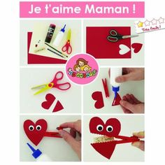 Pince a linge coeur Valentine's Cards For Kids, Diy For Kids, Crafts For Kids, Diy Crafts, Valentines For Kids, Valentine Day Crafts, Valentine Ideas, Diy St Valentin, Material Didático