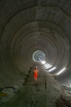 Platform tunnels at Tottenham Court Road. Image © Crossrail