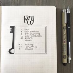 """114 Likes, 7 Comments - Carrie Apple Eddleman (@thevintagewren) on Instagram: """"Keeping it simple...bullet journal key. #bulletjournal #handlettering #bulletjournalkey…"""""""