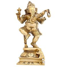 Dancing Ganesha Statue Hindu Brass Sculpture for Home Decor 8.5 X 5 Inches Religious Gifts ShalinIndia http://www.amazon.in/dp/B00SZS0H9I/ref=cm_sw_r_pi_dp_ajjXvb0871C9K
