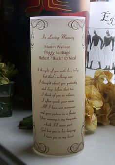 Memorial Vellum Luminarie - For Loved Ones - Event Tribute with Poem - Vintage - Champagne - VELLUM Funeral Spray Flowers, Funeral Sprays, Condolence Gift, Sympathy Gifts, Simple Table Decorations, Battery Operated Tea Lights, Vintage Champagne, First Event, Photo Projects