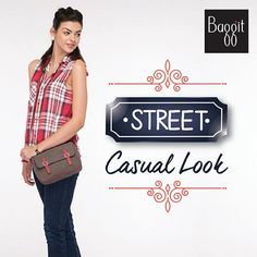 Fashion enthusiasts don't forget to carry this cute #sling bag on your denims and a plaid sleeveless shirt to rock a chic street style look this summer! #GetTheLook