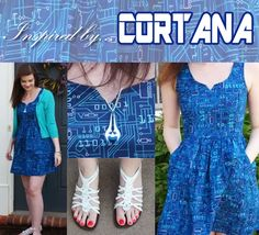#Gaming Outfit inspired by #Cortana from #Halo! Click the pic to get the look!