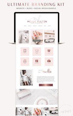 A Website Creation Guide For Creating Spectacular Compelling Websites Web Design, Blog Design, Wordpress Template, Wordpress Theme, Marketing, Branding Kit, Media Kit, Creating A Blog, Blog Planner