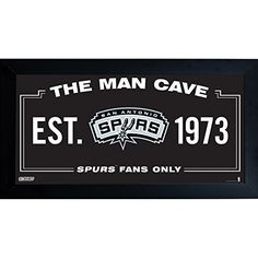 NBA San Antonio Spurs Man Cave Sign 10 x 20 Framed Photo *** Continue to the product at the image link.