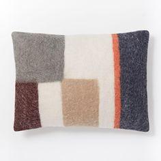 Felt Colourblock Pop Cushion Cover - Nightshade