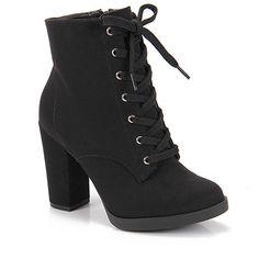 Bota Coturno Feminina Vizzano - Preto - Passarela.com High Heel Boots, Shoes Heels Boots, Heeled Boots, Bootie Boots, High Heels, Mode Rock, Cute Heels, Cute Boots, Pretty Shoes