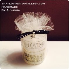 'Washi' Tea Light in Tulle with Charm. Perfect for wedding favours! Gift for your guests something customised for your big day. Add tag with message & coloured ribbon to match for £2.99 each. Home Decor - Add a personal touch to your home as a nice treat from a plain tea light. Gift Idea - Perfect for the candle lovers out there! Can be gift wrapped (e.g. In Tulle or Organza bag, ribbons etc.) Maybe just a treat for yourself?