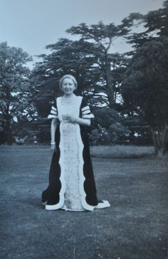 Lady Berwick of Attingham Park in her Coronation Robes in 1953.