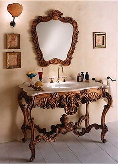 Victorian Style Bathroom Vanity | ... vanities, antique vanity sink,Victorian style vanity,unique bathroom.... GORGEOUS !!!! 'Cherie
