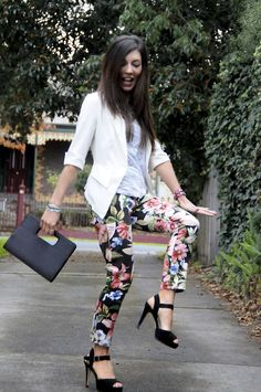 Dusty Petals: Introducing Floral Pants Into My Wardrobe