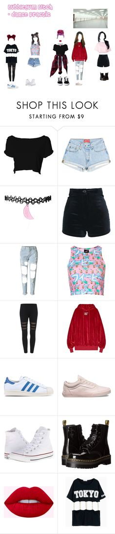 """""""Bubblegum B!tch - Dance practic"""" by dark-unicorn-980 ❤ liked on Polyvore featuring Levi's, Illustrated People, adidas Originals, Vans, Converse, Dr. Martens and Steve J & Yoni P"""