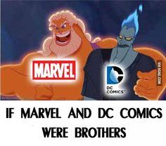 Makes sense... #marvel #dccomics<<<It's totally like Thor and Loki!!