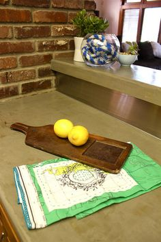 DIY concrete counter top by kara paslay designs. Product used is Ardex