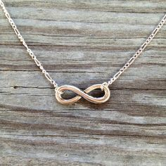 Silver Infinity Necklace on Etsy, $15.00